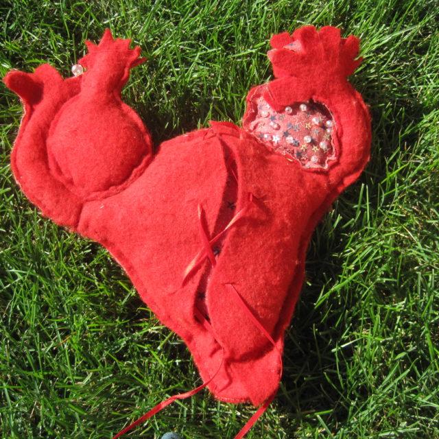 uterus and ovaries icon doll