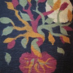 Symbol of Childbearing - A felt picture of a tree growing from a placenta with a full moon in the background